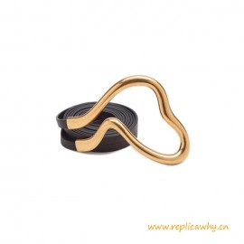 Top Quality Double Strap Belt in Nappa Leather Metal Hardware