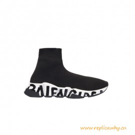 Top Quality Speed Graffiti Sole Knitted Trainers