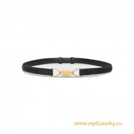 Top Quality Block Triomphe Calfskin Leather Belt