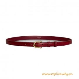 Top Quality Elegant Belt Rounded Buckle Calfskin