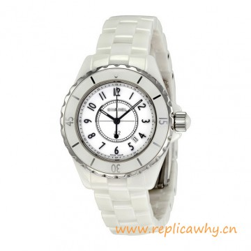 Original Design J12 White Ceramic 33mm Quartz Ladies Watch H0968