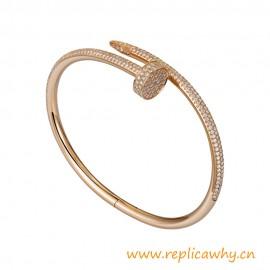 Top Quality Juste un Clou Bracelet Set with 500 Brilliant-cut Diamonds