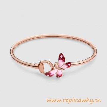 Original Design Flora Bracelet in Rose Gold and Enamel