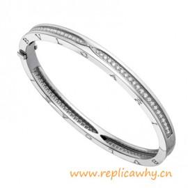 Original Design B.zero1 Bangle Bracelets with Pavé Diamonds