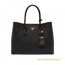Original Design Double Saffiano Calfskin Leather Handbag