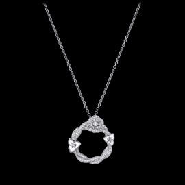 Original Rose Pendant with 110 Brilliant-cut Diamonds