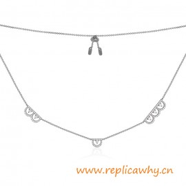 Original Design Micropave with Zirconia Stones Silver Necklace