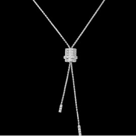 Original Pendant in 18K White Gold Set with 79 Brilliant-cut Diamonds