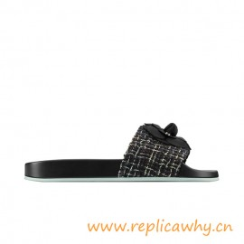 Top Quality Originnal Mules Tweed Gosgrain Slippers