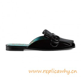 Authentic Design Marmont Patent Leather Slipper for Women