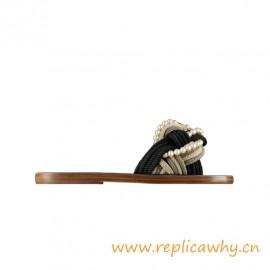 Original Quality Sandals Mules Fantasy Pearls Black Beige