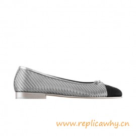 Top Quality Ballerinas Pvc Grosgrain Silver Black