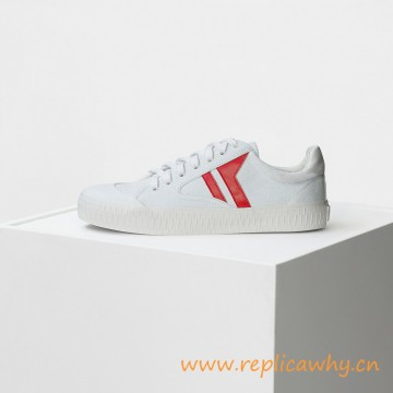 Original Quality Plimsole Lace Up Sneaker in White Canvas