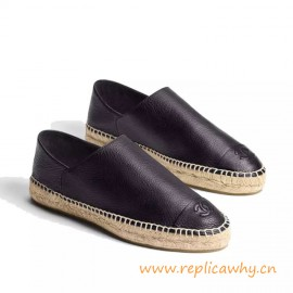 Top Quality Espadrilles Calfskin Beige Black for Women