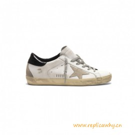 Top Quality Golden in Leather with Glossy Heel Tab
