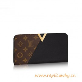 Original Kimono Wallet Calfskin Leahter Combines Iconic Monogram Canvas