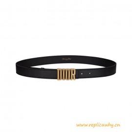 Top Quality D-Fence Belt Black Smooth Calfskin
