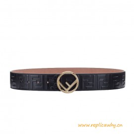 Top Quality Black Leather Wide Belt with Buckle