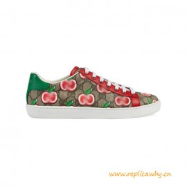 Top Quality Ace Sneaker with Apple Print Rubber Sole