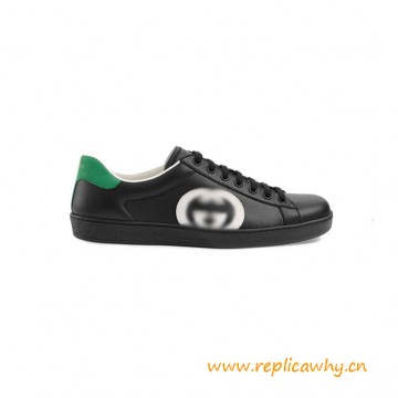 Top Quality Interlocking Ace Low-top Leather Sneakers