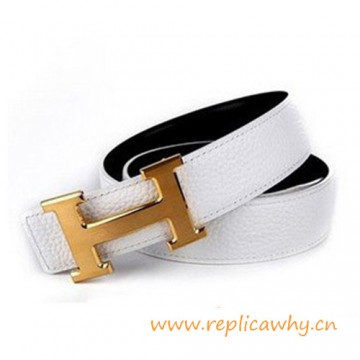 Original Clemence Reversible Belt Snow White with H Buckle