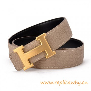 Original Clemence Reversible Belt Grey with H Buckle