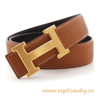 Original Clemence Reversible Belt Brown with H Buckle