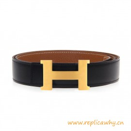 Top Quality Reversible Togo Leather Belt with H Buckle