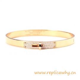 Original Design Quality Kelly Narrow Bracelet with Diamonds