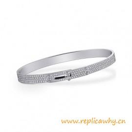 Original Design Quality Kelly Narrow Bracelet with 499 Diamonds