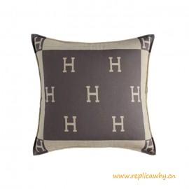 Designer H Design Pillows in Jacquard Woven Wool Cushion