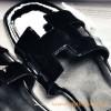 Original Oran H Sandals Calfskin Patent Leather Slippers All Black