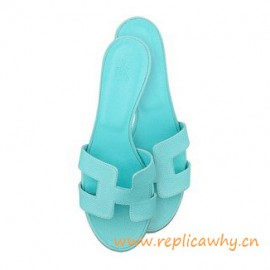 Original Oasis Ladies' Sandal in Epsom Leather Light Blue Slippers