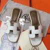 Original Oran Blanco Sandalias Planas para Mujer en Ternera Box