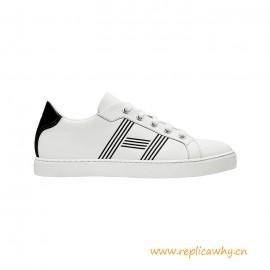 Top Quality Avantage Sneaker in Calfskin White Rubber Sole