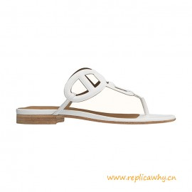 Top Quality Beach Sandal in Suede Goatskin with Metallic Finish