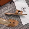 Top Quality Original Design Oran Sandals Leather Slippers Brown