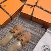 Top Quality Original Design Oran Sandals Leather Slippers Brown