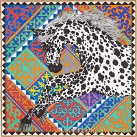 Original Design H Appaloosa des Steppes Silk Scarf