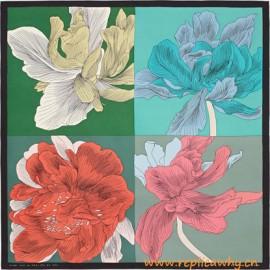 Original Design Etude pour un Iris Arc-en-ciel Silk Scarf