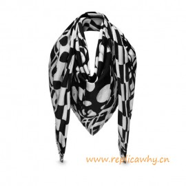 Original Design Summer Fashion Graphic Flower Monogram Shawl