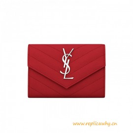 Top Quality Small Envelope Wallet in Grain de Poudre Embossed Leather